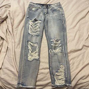 Fashion Nova Distressed Boyfriend Jeans